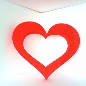 Coeur géant relief A005