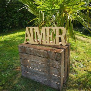 Lettres AIMER A009