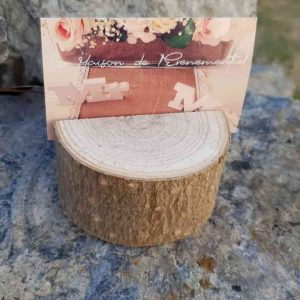Petit rondin de bois porte prénom R007